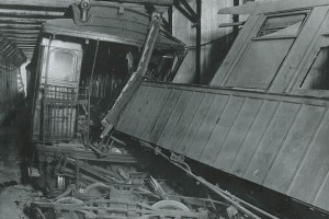 The 1918 Malbone St. train wreck. (NYCTA File Photo)